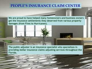 Insurance Claim Adjuster