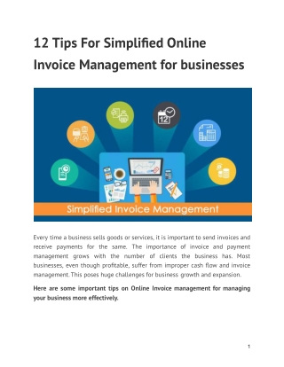 12 Tips For Simplified Online Invoice Management for businesses