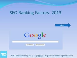 SEO Ranking Factors- 2013