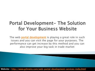 Portal Development- The Solution for Your Business Website