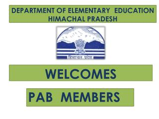 DEPARTMENT OF ELEMENTARY  EDUCATION  HIMACHAL PRADESH