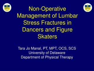 Non-Operative Management of Lumbar Stress Fractures in Dancers and Figure Skaters