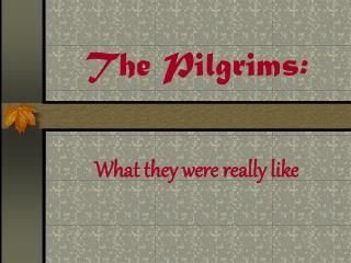 The Pilgrims: