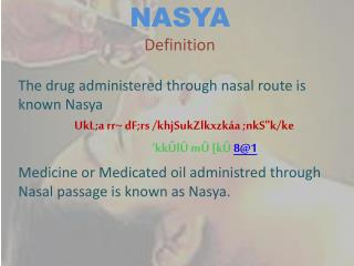 NASYA Definition