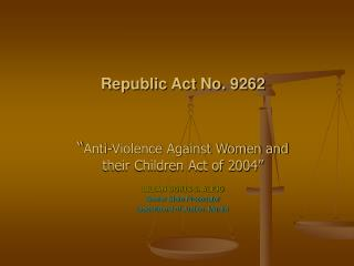 Republic Act No. 9262