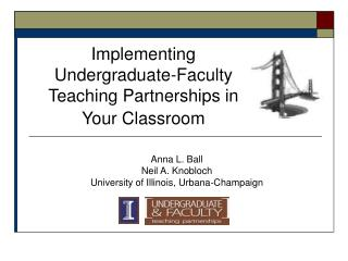 Implementing Undergraduate-Faculty Teaching Partnerships in Your Classroom