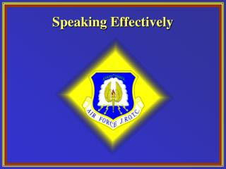 Speaking Effectively