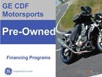 GE CDF Motorsports