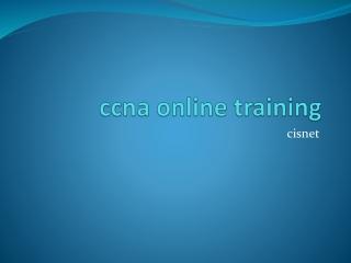 ccna online training