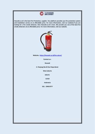 Fire Smoke Detector Hooseki.co.id