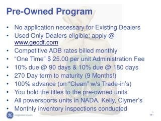 Pre-Owned Program