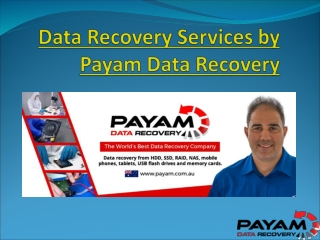 Data Recovery Services by Payam Data Recovery
