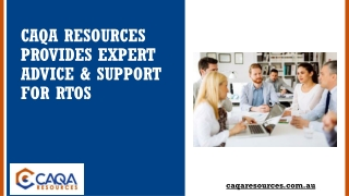 CAQA Resources Provides Expert Advice & Support for RTOs
