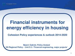 Bjoern Gabriel, Policy Analyst