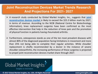 Outlook of Joint reconstruction devices market status and development trends rev
