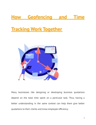 How Geofencing and Time Tracking Work Together