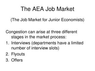 The AEA Job Market