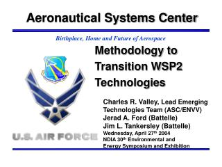 Methodology to Transition WSP2 Technologies