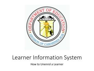 Learner Information System