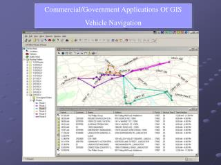 Commercial/Government Applications Of GIS Vehicle Navigation