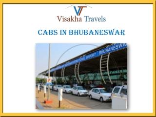 Book Online Cheap Cabs in Bhubaneswar | Visakha Travels