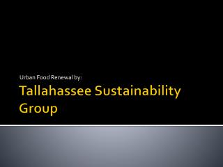 Tallahassee Sustainability Group