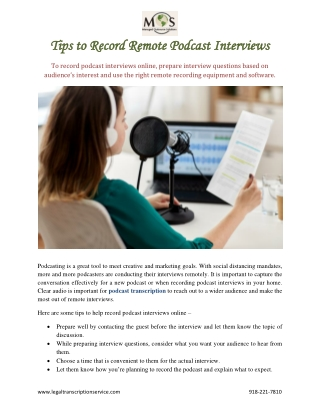 Tips to Record Remote Podcast Interviews