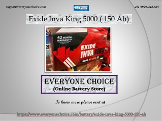 Buy Exide Inva King 5000 ( 150 Ah) Online