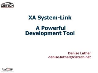 XA System-Link   A Powerful Development Tool
