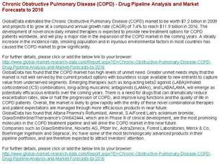 Chronic Obstructive Pulmonary Disease Drug Pipeline
