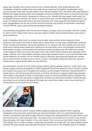 Aturan Meningkatkan Wawasan Perihal Jasa Saluran Mampet Jakarta Dalam 60 Menit