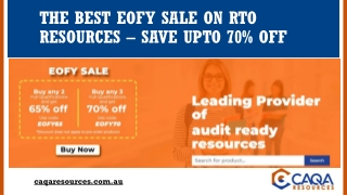 The Best EOFY Sale on RTO Resources – Save UPTO 70% Off