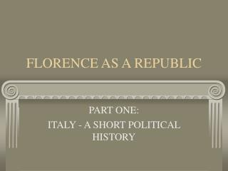 FLORENCE AS A REPUBLIC