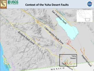 Context of the Yuha Desert Faults