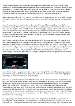 Info Game Ceme Online dan IDN Poker Online Terbaik: 10 Kasino Uang Aktual Termul