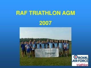 RAF TRIATHLON AGM 2007
