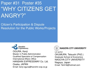 Building Partnership and Citizen Participation in Japan