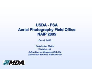 USDA - FSA Aerial Photography Field Office NAIP 2005