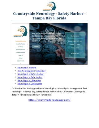 Best Neurologist in Tampa Bay