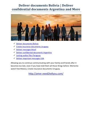 Create insurance documents Uruguay