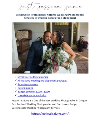 All inclusive wedding and elopement packages