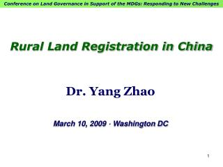 Rural Land Registration in China