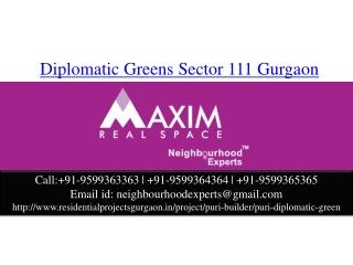 DIplomatic Greens Sector 111 Gurgaon