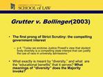 Grutter v. Bollinger 2003