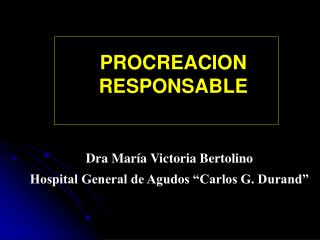 PROCREACION RESPONSABLE