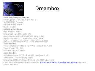 Dreambox HD TV Solution At Best price