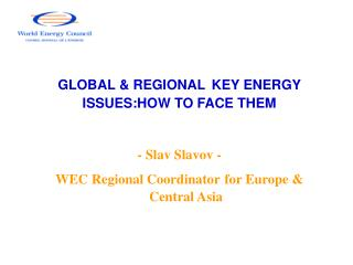 GLOBAL & REGIONAL KEY ENERGY ISSUES:HOW TO FACE THEM