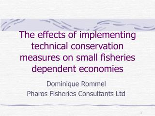 The effects of implementing technical conservation measures on small fisheries dependent economies