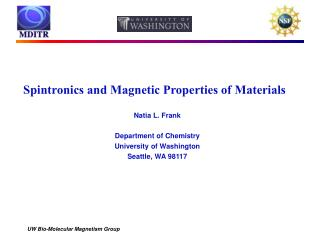 Spintronics and Magnetic Properties of Materials