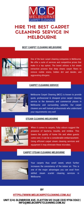 Hire The Best Carpet Cleaning Service In Melbourne
